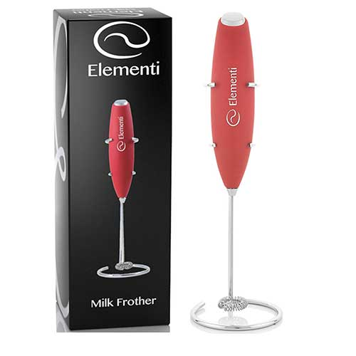 Best Milk Frother Handheld 9. Elementi Milk Frother with Stand