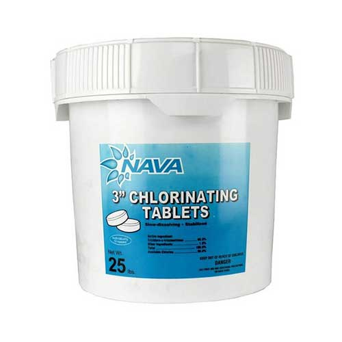 Best Chlorine Tablets for Swimming Pools 3. Nava chlorine large tablets - 25lbs - 3