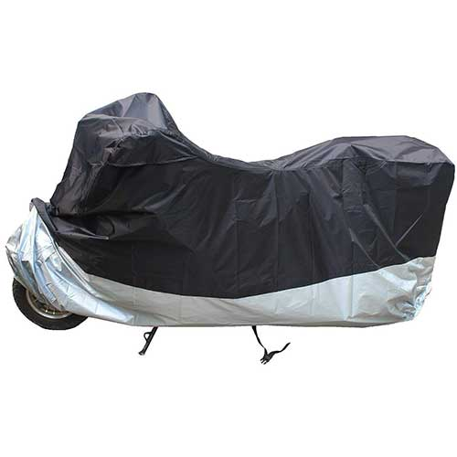Best Motorcycle Covers For Outside Storage 10. LotFancy Motorcycle Bike Polye All Weather Waterproof Motorcycle Bike Polyester Cover