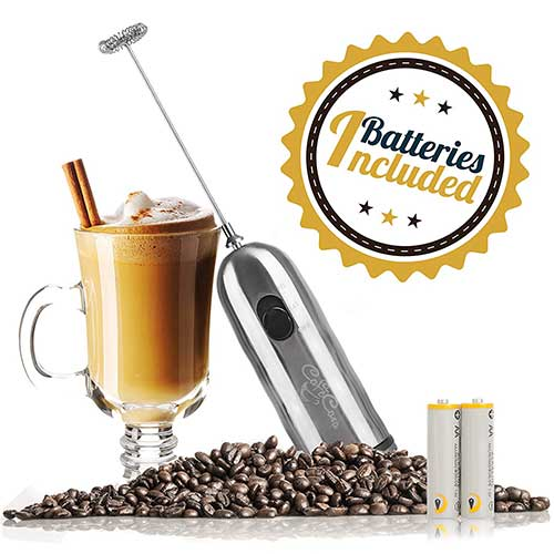 Best Milk Frother Handheld 8. Cafe Casa Handheld Milk Frother and Drink Mixer