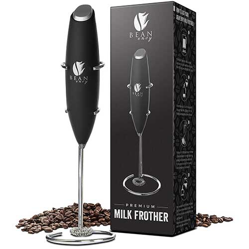 Best Milk Frother Handheld 3. Bean Envy Electric Milk Frother