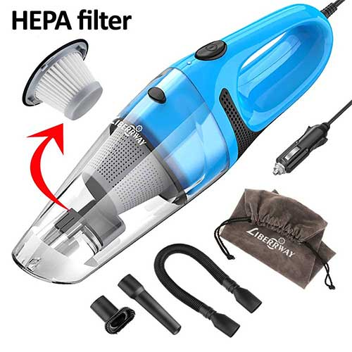 Best Vacuums For Car Detailing 8. LIBERRWAY Car Vacuum Cleaner