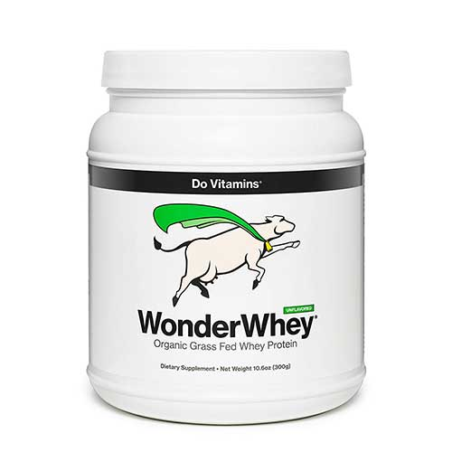 Best Whey Protein Organic 9. WonderWhey - Organic Grass Fed Whey Protein Powder