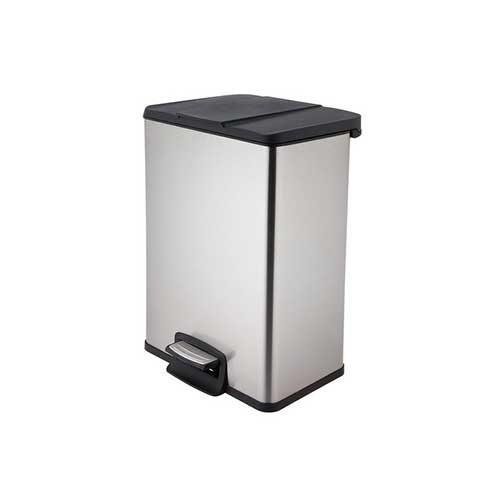 Best Kitchen Trash Cans 8. Home Zone Trash Bin 40L Stainless Steel Rectangular Pedal