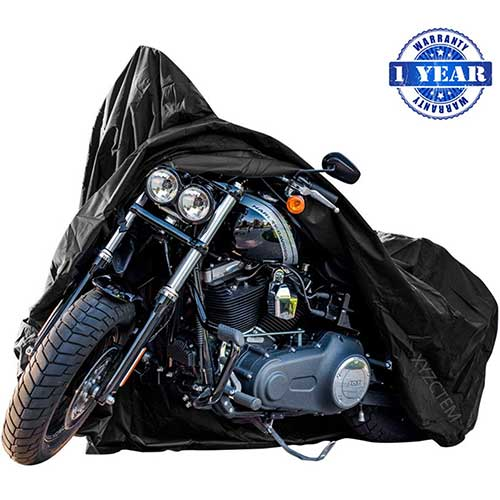 Best Motorcycle Covers For Outside Storage 5. XYZCTEM New Generation Motorcycle Cover
