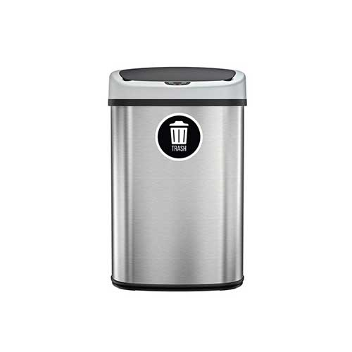 Best Kitchen Trash Cans 7. SensorCan Automatic Sensor Touchless Trash Can, Stainless Steel, 49 Liter / 13 Gallon