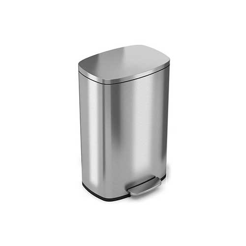 Best Kitchen Trash Cans 2. iTouchless SoftStep 13 Gallon Stainless Steel Step Trash Can