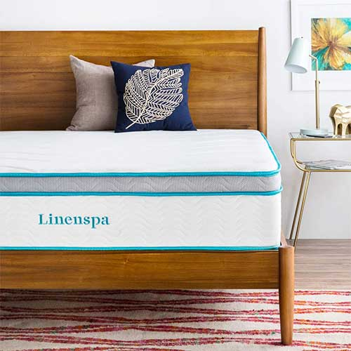 Best Mattress For Side Sleepers With Shoulder Pain 2. LINENSPA 12 Inch Gel Memory Foam Hybrid Mattress