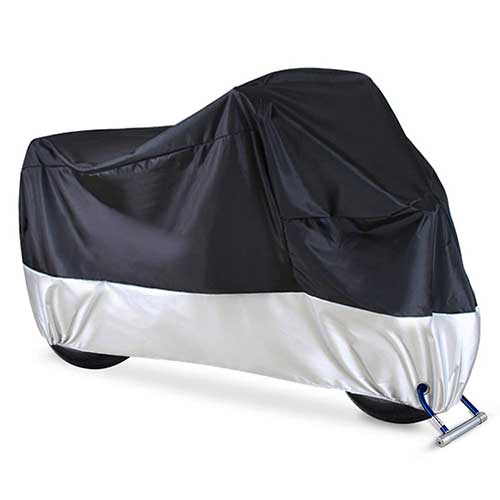 Best Motorcycle Covers For Outside Storage 2. Ohuhu Waterproof Motorcycle Cover, Fits up to 108