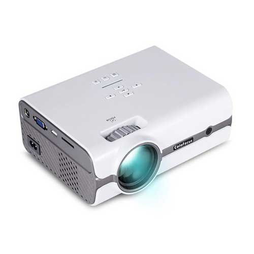 Best Projectors for Business Presentations 7. ColoFocus LCD Mini Projector, Home Video HD Projector with 1080P Supported, 1280x768 Resolution for Home Cinema Theater/Computer/TV/Laptop/Gaming/SD/iPad iPhone/Android Smartphone (White)