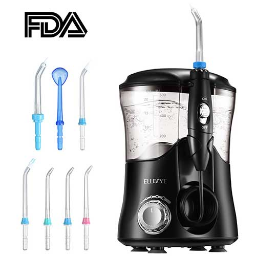 Best Water Flossers For Braces 10. ELLESYE UPGRADED 600ml Capacity Family Dental Oral Irrigator