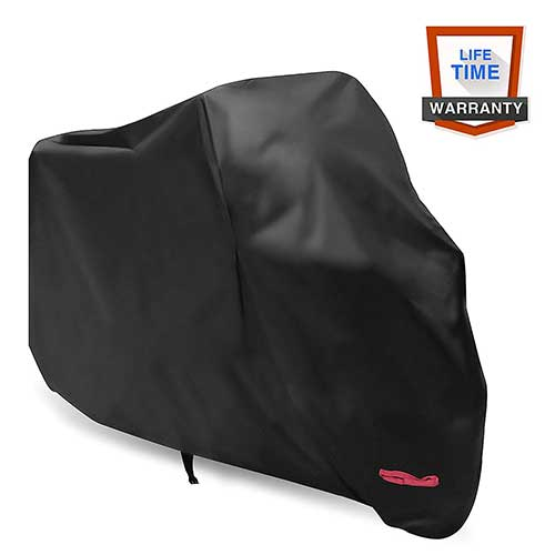 Best Motorcycle Covers For Outside Storage 6. WDLHQC Waterproof Motorcycle Cover