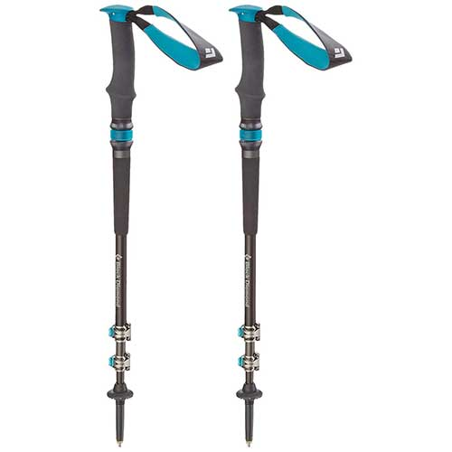 Best Trekking Poles for Women 3. Black Diamond Trail Pro Shock Trekking Poles