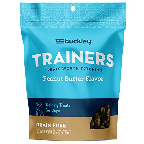 Best Dog Treats for Sensitive Stomachs 2. Buckley 1 Pouch Bacon Flavored Dog Training Treats
