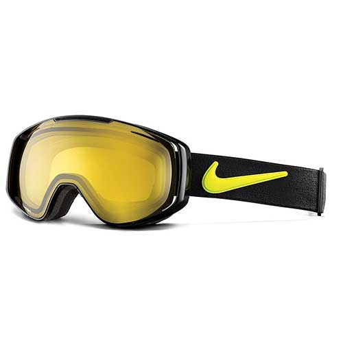 BEST BUDGET SKI GOGGLES 9. Nike Khyber Ski Goggles, Transitions Yellow, Black Cyber