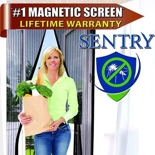 Best Magnetic Screen Doors 10. Inspired Home Living US Military Approved Magnetic Screen Door