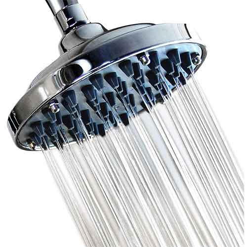 Best Rain Shower Heads for Low Water Pressure 4. WantBa 6 Inch High Pressure Rainfall Message Shower Head