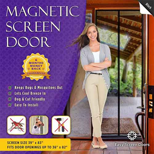 Best Magnetic Screen Doors 7. Easy Screen Doors Magnetic Screen Door