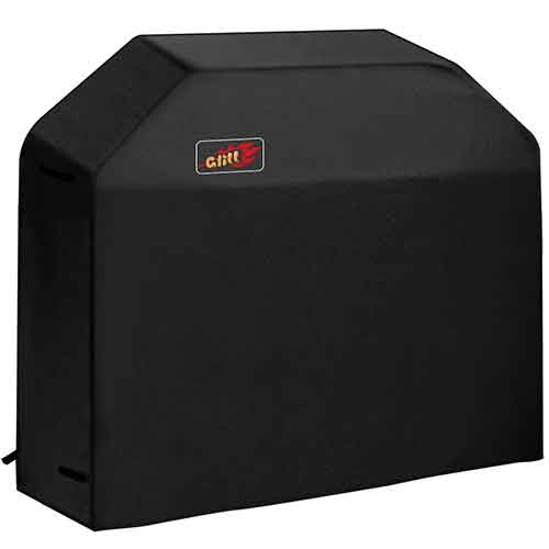 BEST WATERPROOF GRILL COVERS 2. VicTsing 3-4 Burner Gas Grill Cover Heavy Duty Fits Most Brands of Grill - 58 inch 600D Waterproof BBQ Grill Cover + Storage Bag (UV & Dust & Water Resistant, Weather Resistant, Rip Resistant)