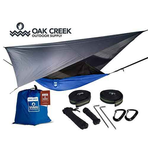 Best Camping Hammocks with Mosquito Net 1. Oak Creek Outdoor Supply Lost Valley Camping Hammock