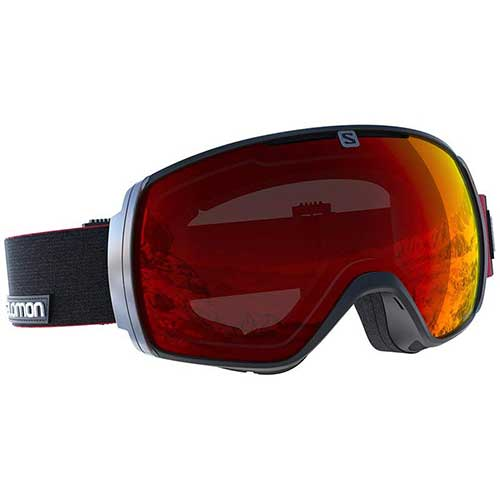 BEST BUDGET SKI GOGGLES 10. Salomon XT One Googles, Black/Red