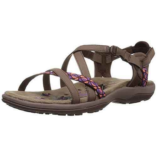 Best Woman's Walking Sandals for Travel 10. Skechers Women's Reggae Slim-Vacay Flat Sandal