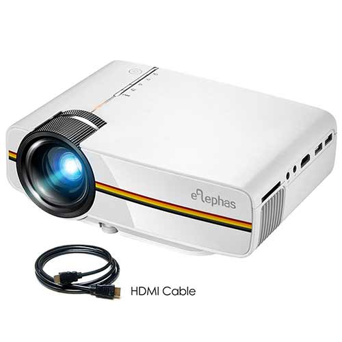 Best Mini Projectors under 100 7. ELEPHAS LED Movie Projector
