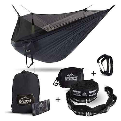 Best Camping Hammocks with Mosquito Net 7. Everest active gear Double Camping Hammock