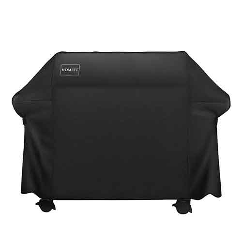 BEST WATERPROOF GRILL COVERS 5. Homitt Waterproof Grill Cover, 64 Inch 600D Heavy Duty BBQ Grill Cover with UV Coating for Most Brands of Grill.