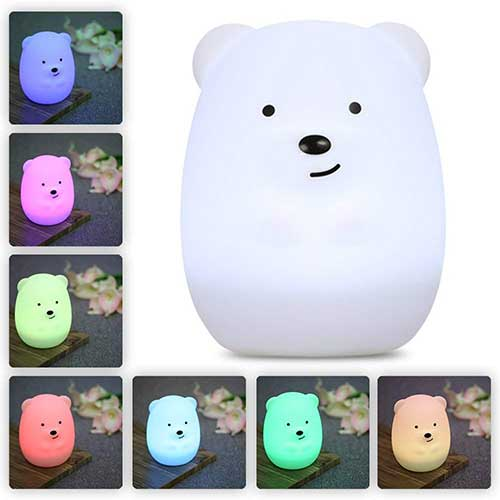 Best Nightlights for Toddler Afraid of the Dark 1. LED Nursery Night Lights for Kids: LumiPets Cute Animal Silicone Baby Night Light
