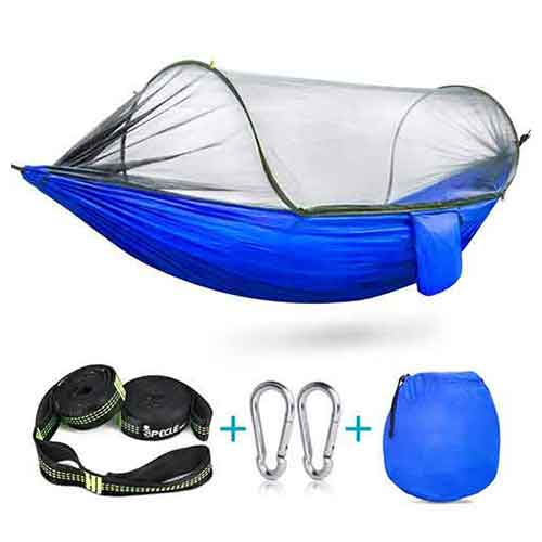 Best Camping Hammocks with Mosquito Net 10. iSPECLE Camping Hammock with Mosquito Bug Net