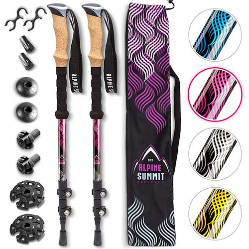 Best Trekking Poles for Women 4. Alpine Summit Hiking/Trekking Poles