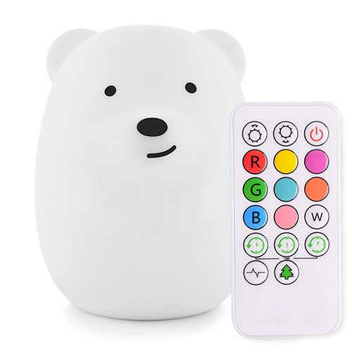 Best Nightlights for Toddler Afraid of the Dark 2. LED Nursery Night Lights for Kids: LumiPets Cute Animal Silicone Baby Night Light with Touch Sensor - Portable and Rechargeable Infant or Toddler Color Changing Bright Nightlight & Baby Gifts