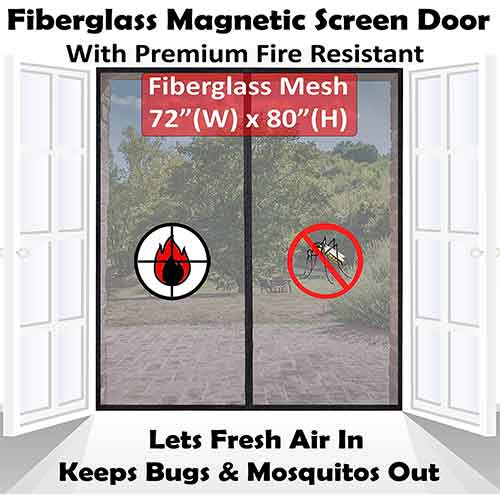 Best Magnetic Screen Doors 5. Mag-Connexion Premium Magnetic Screen Door