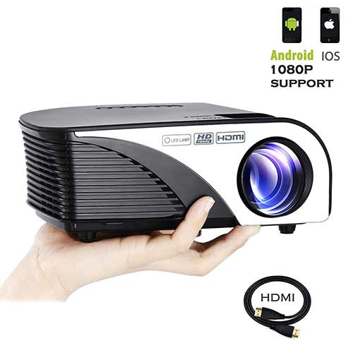 Best Mini Projectors under 100 8. Varmax LED Home Projector