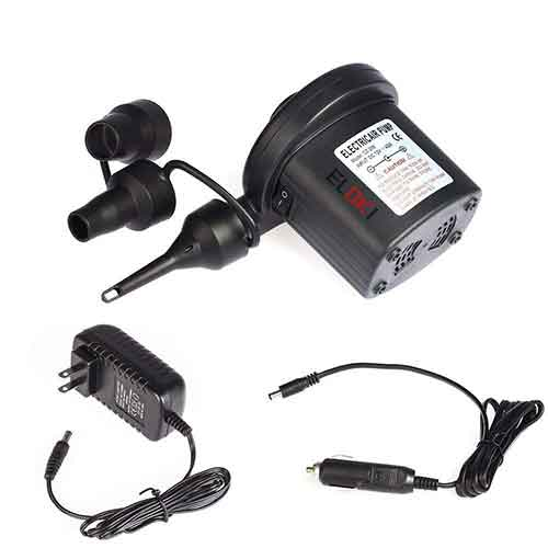 Best 12v Air Pumps for Inflatables 9. ELOKI Electric Air Pump 110V AC/12V DC
