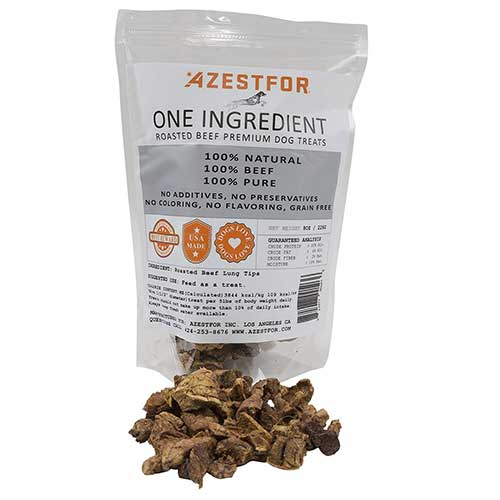 Best Dog Treats for Sensitive Stomachs 6. Azestfor One Ingredient 100% Natural Roasted Beef Premium Dog Treats