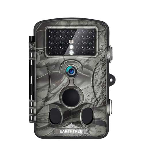Best Trail Cameras under 150 6. Earthtree Trail Camera 12MP 1080P FHD Game Hunting Camera