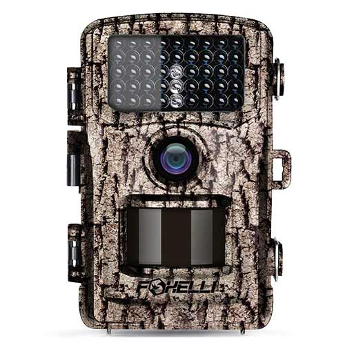 Best Trail Cameras under 150 4. Foxelli Trail Camera – 12MP 1080P Full HD Wildlife Scouting Hunting Camera