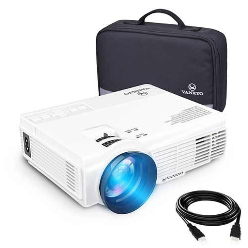 Best Mini Projectors under 100 2. vankyo LEISURE 3 (Upgraded Version) 2200 LUX LED Portable Projector