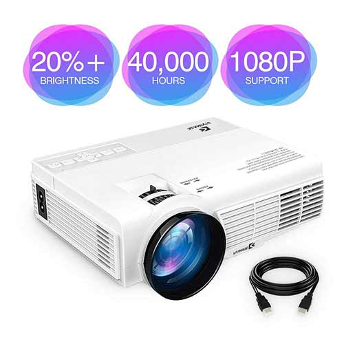 Best Mini Projectors under 100 9. ViviMage C3 20%+Brightness Mini LED Projector 1080P HD Supported 170