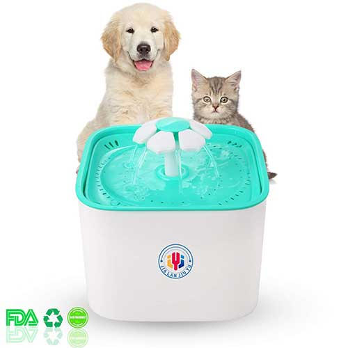 Best Cat Water Fountains 9. JIALANJIUYU Pet Water Fountain Cat Dogs Water Dispenser Healthy and Hygienic Drinking Fountain