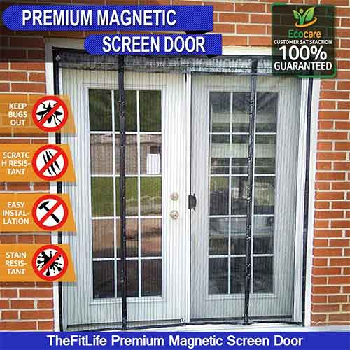 Best Magnetic Screen Doors 6. TheFitLife Wide Door Magnetic Screen