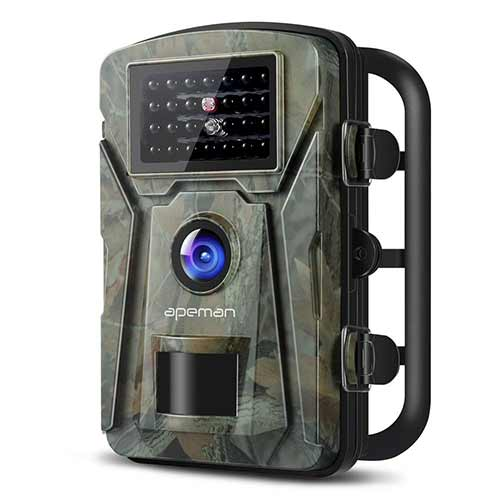 Best Trail Cameras under 150 9. APEMAN Trail Camera 12MP 1080P Wildlife Camera