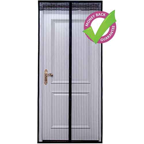 Best Magnetic Screen Doors 8. OBOOUM Magnetic Screen Door Mesh Curtain