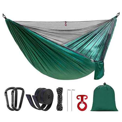 Best Camping Hammocks with Mosquito Net 3. SilkRd Double Camping Hammock With Mosquito Bug Net