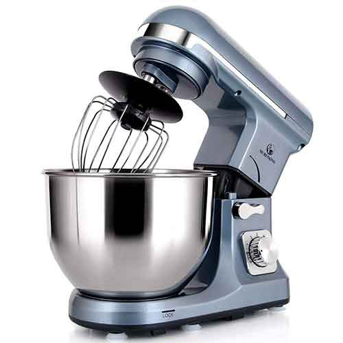BEST STAND MIXERS UNDER 100 10. MURENKING Professional Stand Mixer MK37 500W 5-Qt Bowl 6-Speed Tilt-Head Food Electric Mixer Kitchen Machine, Plastic (Silver Blue)