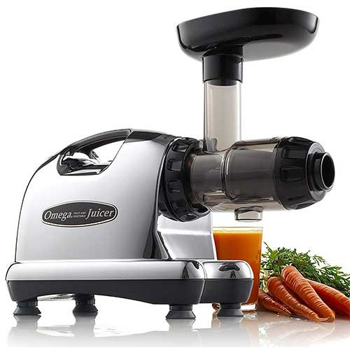 Best Juicers for Greens 5. Omega J8006 Nutrition Center Quiet Dual-Stage Slow Speed Masticating Juicer