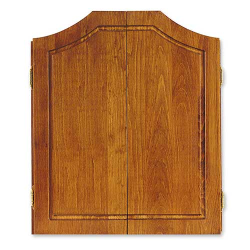 Best Dart Board Cabinets 9. Dart World Solid Pine Cabinet, Early American Stain