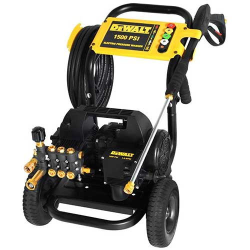 Best Commercial Pressure Washers 3. DeWalt DXPW1500E DeWALT 1500 PSI @ 1.8 GPM Electric Pressure Washer